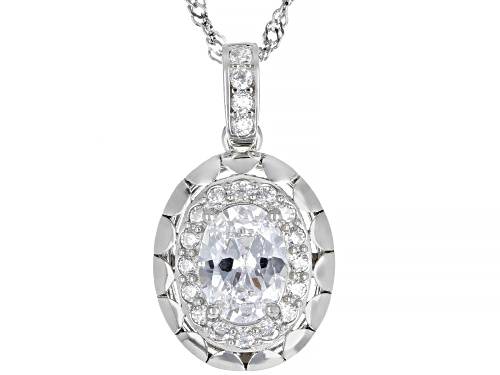 Photo of Bella Luce ® 2.22ctw Rhodium Over Sterling Silver Pendant With Chain (1.45ctw DEW)