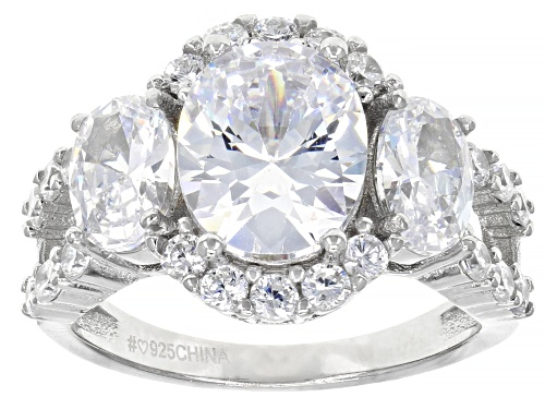 Photo of Bella Luce ® 6.95ctw Rhodium Over Sterling Silver Ring (4.72ctw DEW) - Size 8