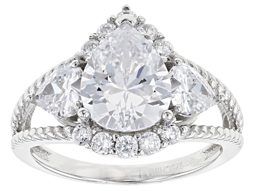 Photo of Bella Luce ® 5.48ctw Rhodium Over Sterling Silver Ring (3.64ctw DEW) - Size 8