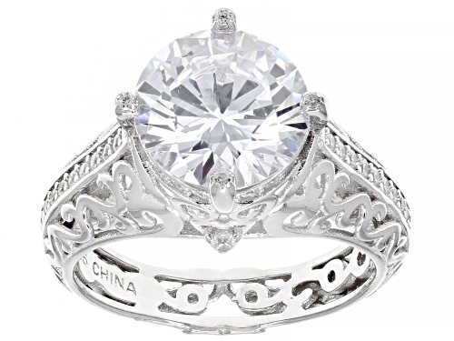Photo of Bella Luce ® 8.88ctw Rhodium Over Sterling Silver Ring (5.21ctw DEW) - Size 8