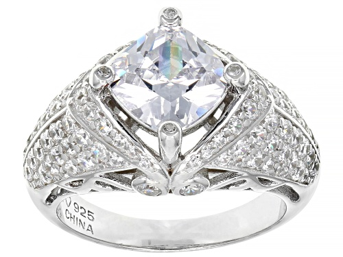 Photo of Bella Luce ® 5.73ctw Rhodium Over Sterling Silver Ring (3.31ctw DEW) - Size 8