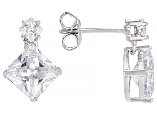 Photo of Bella Luce ® 5.75ctw Rhodium Over Sterling Silver Earrings (4.28ctw DEW)