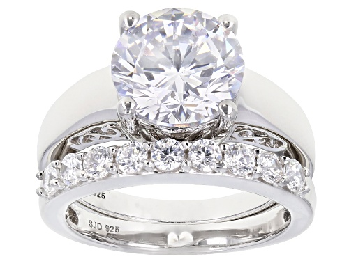 Photo of Bella Luce ® 7.80ctw Rhodium Over Sterling Silver Solitare Ring With Band (4.41ctw DEW) - Size 11