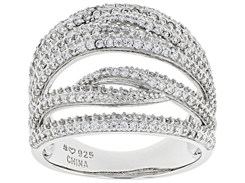 Photo of Bella Luce® 2.22ctw Rhodium Over Sterling Silver Ring (1.39ctw DEW) - Size 7