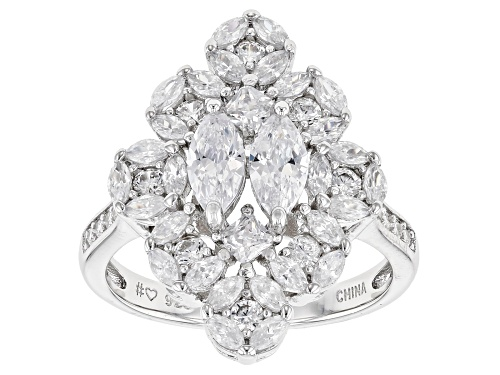 Photo of Bella Luce® 2.16ctw Rhodium Over Sterling Silver Ring (1.86ctw DEW) - Size 8