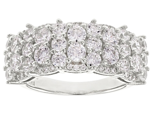 Photo of Bella Luce® 4.32ctw Rhodium Over Sterling Silver Ring (2.33ctw DEW) - Size 8