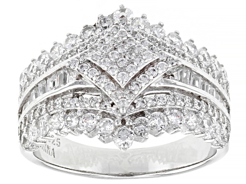 Photo of Bella Luce® 2.55ctw Rhodium Over Sterling Silver Ring (1.30ctw DEW) - Size 11