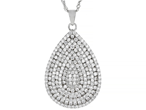 Photo of Bella Luce ® 2.04ctw Rhodium Over Sterling Silver Pendant With Chain (1.13ctw DEW)