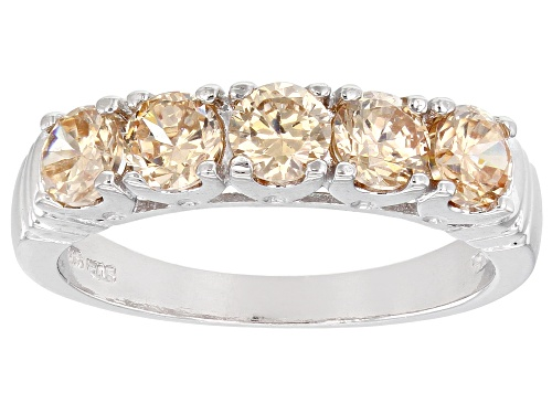 Photo of Bella Luce ® 2.00ctw Champagne Diamond Simulant Rhodium Over Sterling Silver Ring (1.25ctw DEW) - Size 8
