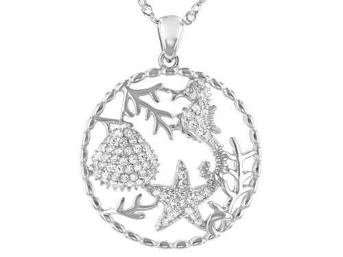 Photo of Bella Luce ® 0.66ctw Rhodium Over Sterling Silver Nautical Pendant With Chain (0.36ctw DEW)