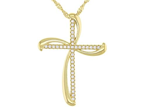 Photo of Bella Luce ® 0.34ctw white diamond simulant Eterno ™ Yellow Cross Pendant With Chain (0.18ctw DEW)