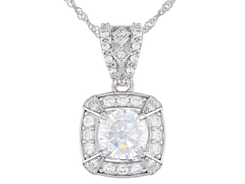 Photo of Bella Luce ® 4.55ctw Rhodium Over Sterling Silver Pendant With Chain (2.66ctw DEW)