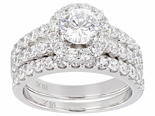 Photo of Bella Luce ® 4.44ctw Rhodium Over Sterling Silver Ring With Band (2.22ctw DEW) - Size 11