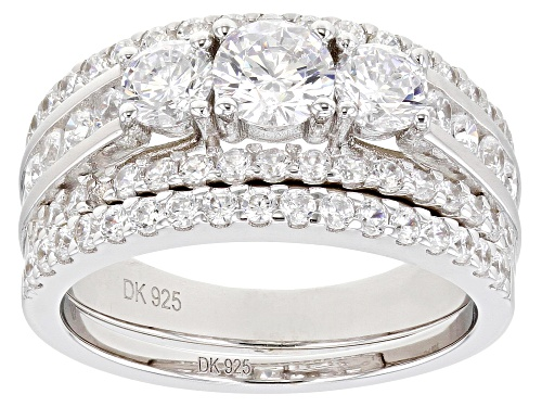 Photo of Bella Luce ® 3.68ctw Rhodium Over Sterling Silver Ring With Band (1.92ctw DEW) - Size 8