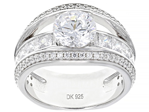 Photo of Bella Luce ® 5.65ctw Rhodium Over Sterling Silver Ring (2.82ctw DEW) - Size 7