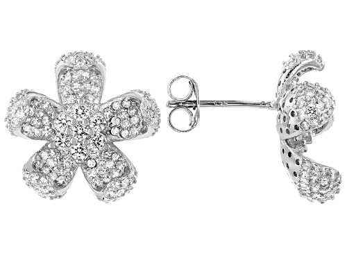 Photo of Bella Luce ® 2.80ctw Rhodium Over Sterling Silver Flower Earrings (1.89ctw DEW)