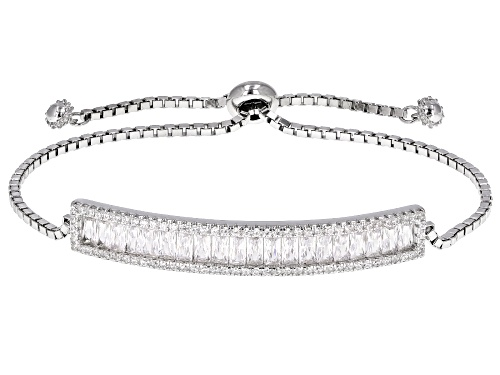 Photo of Bella Luce ® 3.46ctw Rhodium Over Sterling Silver Adjustable Bracelet