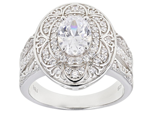 Photo of Bella Luce ® 3.00ctw Rhodium Over Sterling Silver Ring (1.86ctw DEW) - Size 7