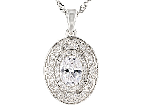 Photo of Bella Luce ® 2.45ctw Rhodium Over Sterling Silver Pendant With Chain (1.56ctw DEW)