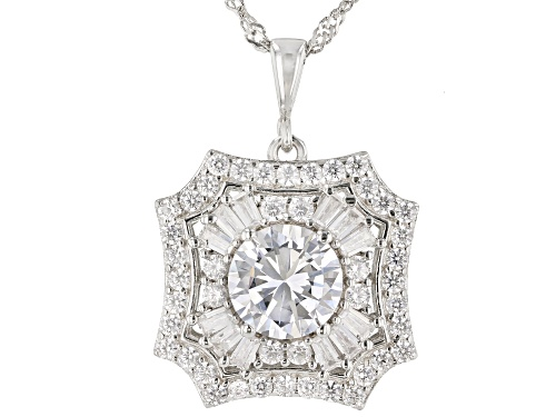 Photo of Bella Luce ® 7.99ctw Rhodium Over Sterling Silver Pendant With Chain (4.37ctw DEW)