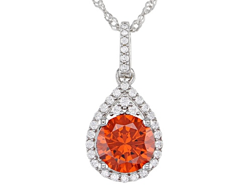 Photo of Bella Luce ® 4.84ctw Multi Gem Simulants Rhodium Over Silver Pendant With Chain