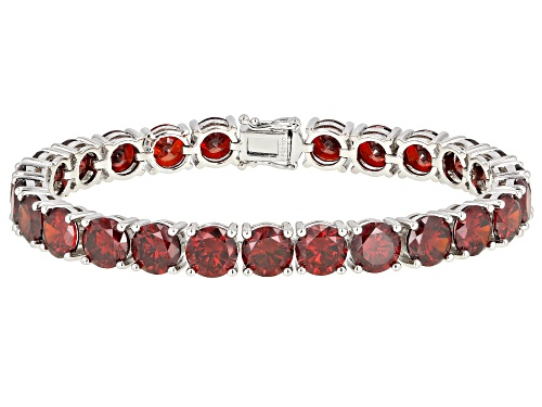 Photo of Bella Luce ® 62.98ctw Garnet Simulant Rhodium Over Silver Tennis Bracelet - Size 8