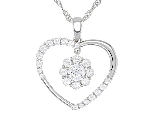 Photo of Bella Luce ® 2.60ctw Rhodium Over Sterling Silver Heart Pendant With Chain (1.36ctw DEW)