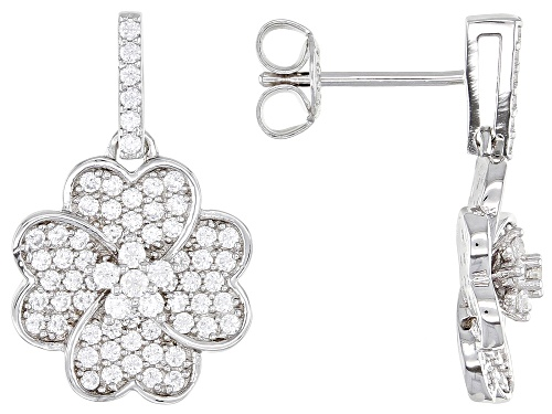 Photo of Bella Luce ® 1.32ctw Rhodium Over Sterling Silver Flower Earrings (0.69ctw DEW)