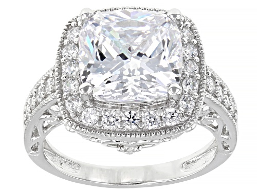 Photo of Bella Luce ® 8.49ctw Rhodium Over Sterling Silver Ring (4.45ctw DEW) - Size 8