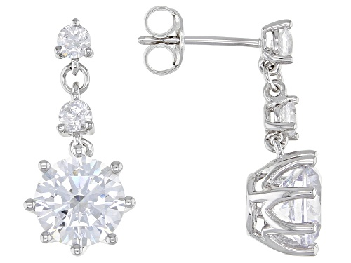 Photo of Bella Luce ® 7.64ctw Rhodium Over Sterling Silver Earrings (4.52ctw DEW)