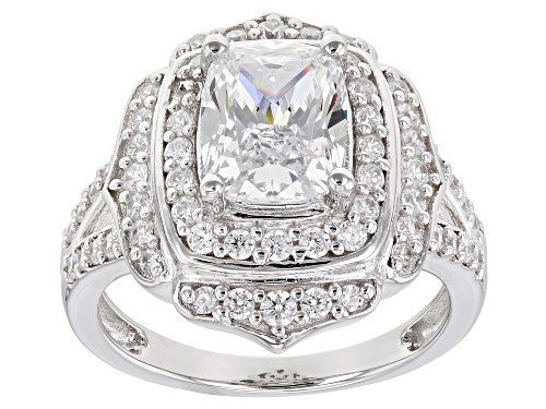Photo of Bella Luce ® 4.46ctw Rhodium Over Sterling Silver Ring (3.42ctw DEW) - Size 7