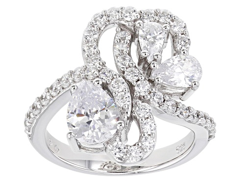 Bella Luce ® 4.12ctw Rhodium Over Sterling Silver Ring (2.67ctw DEW) - Size 7