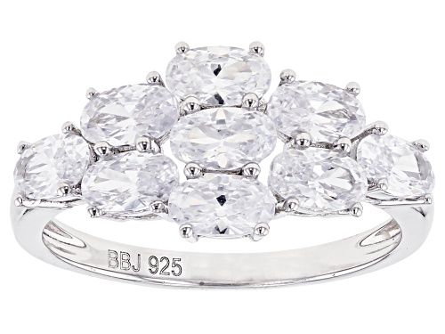 Photo of Bella Luce ® 3.21ctw Rhodium Over Sterling Silver Ring (1.89ctw DEW) - Size 7