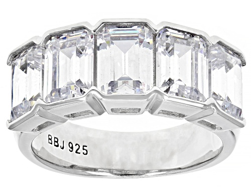Photo of Bella Luce ® 8.50ctw Rhodium Over Sterling Silver Ring (5.30ctw DEW) - Size 7