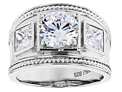 Photo of Bella Luce ® 5.82ctw Rhodium Over Sterling Silver Ring (3.46ctw DEW) - Size 7