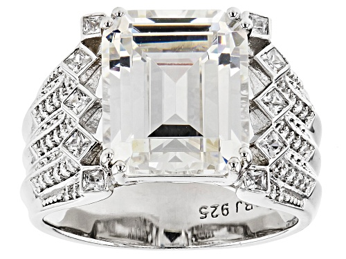 Photo of Bella Luce ® 11.82ctw Rhodium Over Sterling Silver Ring (6.45ctw DEW) - Size 7
