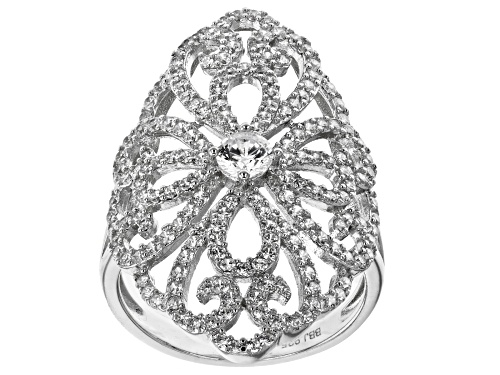 Photo of Bella Luce ® 2.30ctw Rhodium Over Sterling Silver Ring (1.29ctw DEW) - Size 7