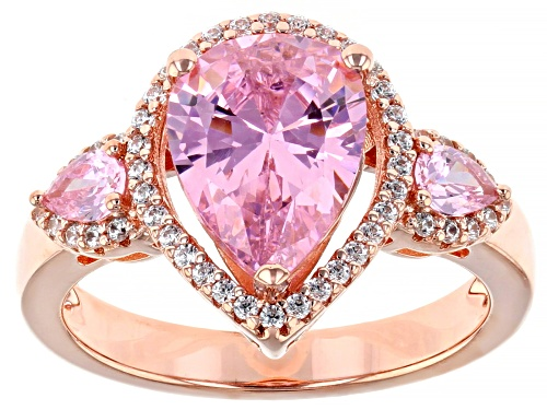 Photo of Bella Luce ® 4.44ctw Pink And White Diamond Simulants Eterno ™ Rose Ring (3.66ctw DEW) - Size 7