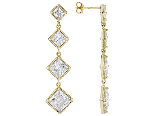 Photo of Bella Luce ® 12.36ctw White Diamond Simulant Eterno ™ Yellow Dangle Earrings (8.6ctw DEW)