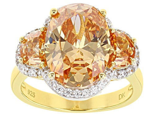 Photo of Bella Luce ® 10.88ctw Champagne And White Diamond Simulants Eterno ™ Yellow Ring (6.99ctw DEW) - Size 8