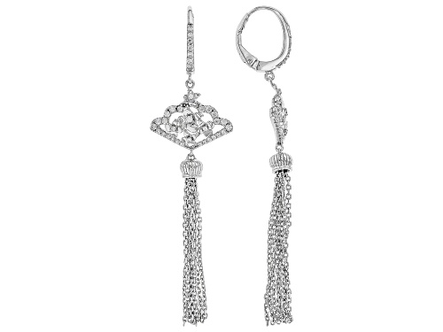 Photo of Bella Luce ® 1.05ctw Rhodium Over Sterling Silver Tassel Earrings (0.59ctw DEW)