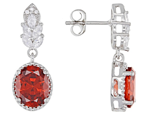 Photo of Bella Luce ® 5.58ctw Garnet And White Diamond Simulants Rhodium Over Sterling Silver Earrings