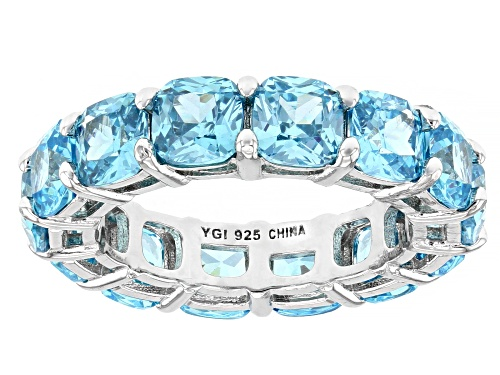 Photo of Bella Luce ® 12.75ctw Lab Created Blue Spinel Rhodium Over Sterling Silver Eternity Band Ring - Size 8