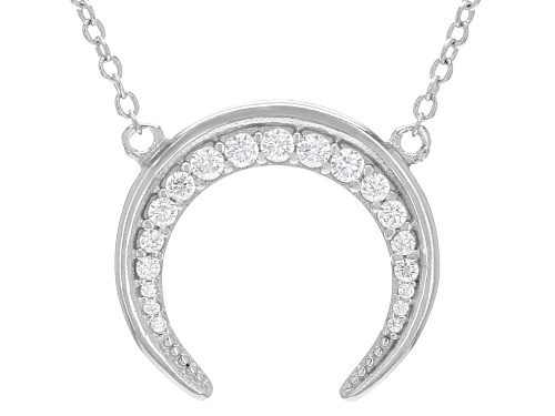 Photo of Bella Luce ® 0.34ctw Rhodium Over Sterling Silver Moon Necklace (0.21ctw DEW) - Size 16
