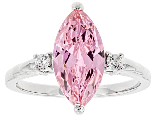 Photo of Bella Luce ® 4.52ctw Pink And White Diamond Simulants Rhodium Over Silver Ring (2.56ctw DEW) - Size 8