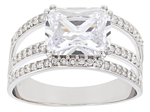 Photo of Bella Luce ® 4.20ctw Rhodium Over Sterling Silver Ring - Size 7