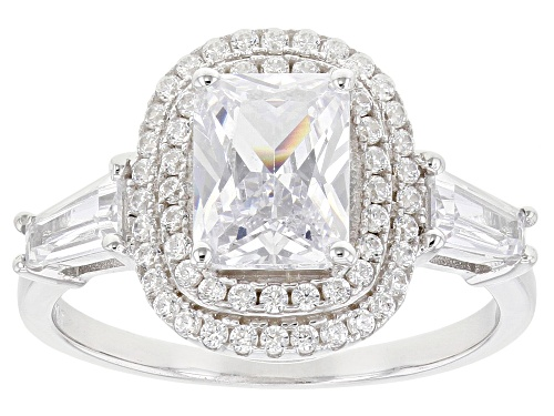 Photo of Bella Luce ® 3.66ctw Rhodium Over Sterling Silver Ring - Size 10