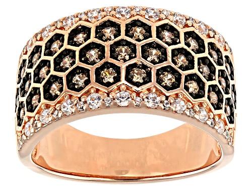 Photo of Bella Luce ® 1.33ctw Champange And White Diamond Simulants Eterno™ Rose Ring (0.79ctw DEW) - Size 5