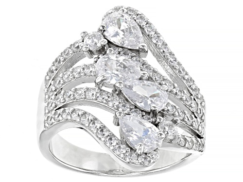 Photo of Bella Luce ® 2.59ctw Rhodium Over Sterling Silver Ring (2.59ctw DEW) - Size 8