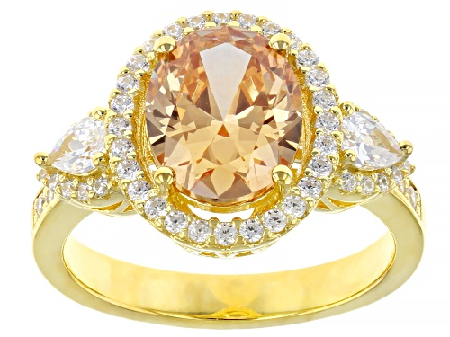 Photo of Bella Luce ® 4.64ctw Champagne And White Diamond Simulants Eterno™ Yellow Ring (3.28ctw DEW) - Size 8